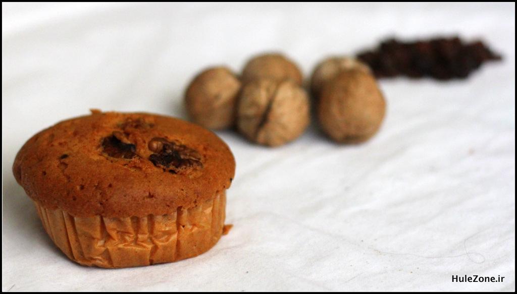 کیک گردو کشمشی نان آوران از نمای اینور :دی - هولهزون
